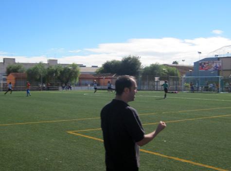 Iván Soriano (Entrenador) celebra la victoria