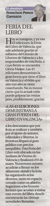 43 Feria del Libro en Valencia