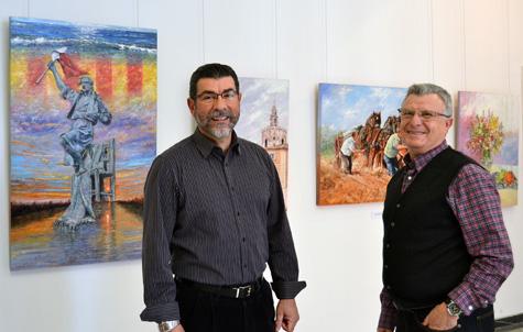 Jesús Lagos y José Carretero exponen a dúo sus pinturas