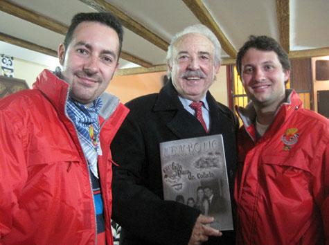 Carlos Navarro (periodista) - Francisco Ponce (escritor) - David Gonzalez (presidente)
