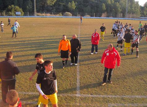 Final del encuentro entre Castellnovo C.F. y el Museros C.F.