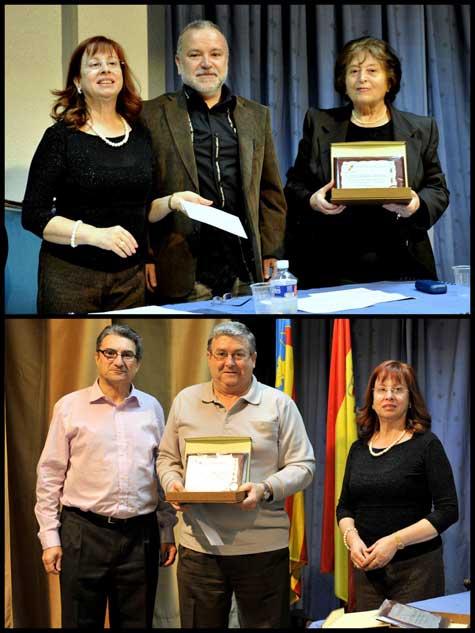 Premiados en Poesía y Relato (Manuel Giménez y Jesús Morera)