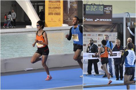 Ganadora femenina del especial 10 Km en Valencia