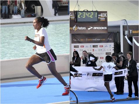 Ganadora femenina Maratón Valencia 2011