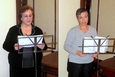 Gloria de Frutos y María Ángeles Lence