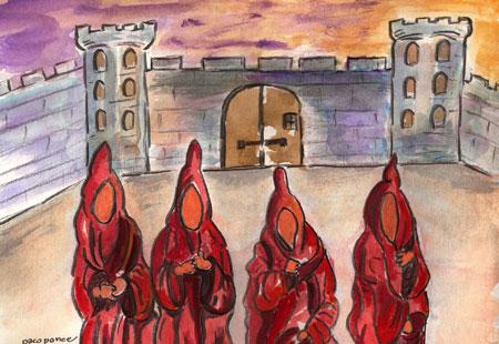 La ciudad de los hombres sin rostro - Acuarela