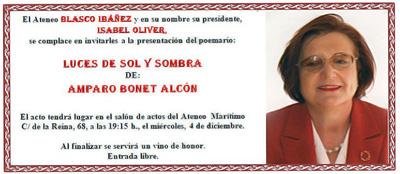 Invitación de Amparo Bonet Alcón