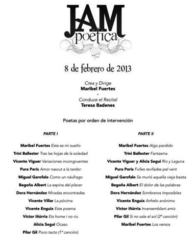 """Jam poética"" en L'Eliana"