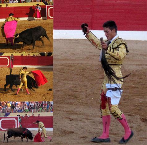 """(Jesús Duque en Santa Eulalia-Teruel-, Agosto 2012. """"Cuatro orejas y rabo"""")"""