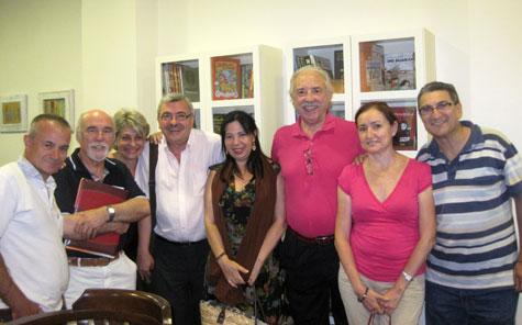 Enrique Tomas-José Morán-Maruxa Duart-J.Vicente Peiró-Mila Villanueva-Francisco Ponce- Milagros Peréz-J.Luis Bedins