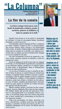"""Artículo periodístico """"La Columna"""""""