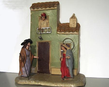 La Virgen y San José buscando posada