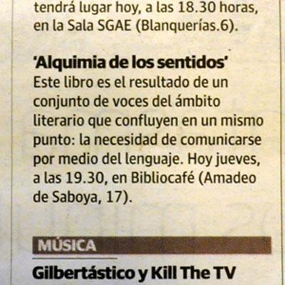 Reseña en el periódico LAS PROVINCIAS de Valencia