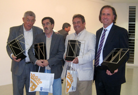 Rafa Marí - Mariano Sánchez - Blas Muñoz - Juan Ballester (Premiados)