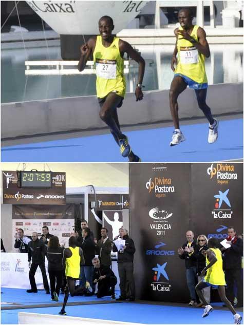 Ganadores Maratón de VALENCIA 2011 (Primero y Segundo)