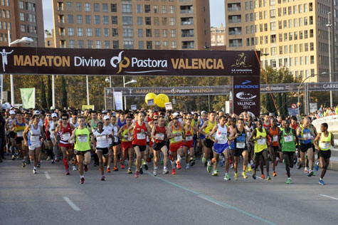 Salida Maratón Valencia 2011