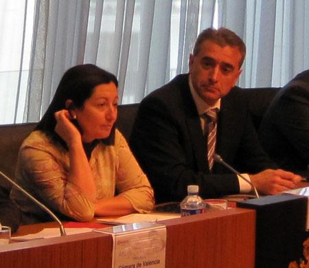Maritina Hernández (Consellera de Agricultura C.V.) y Jenaro Aviñó (Presidente Mesa Lonja)