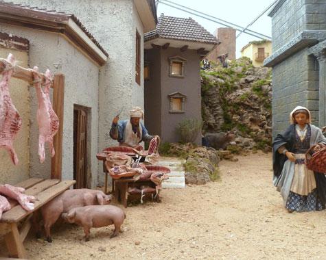 Escena del poblado (carnicero)