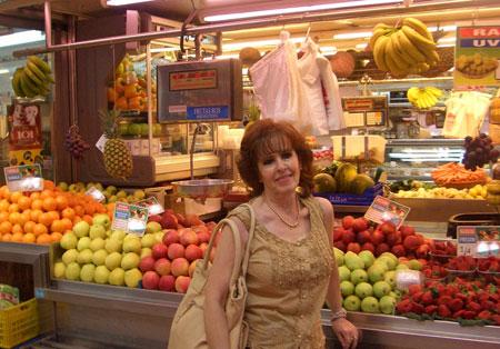 Mercado venta de fruta