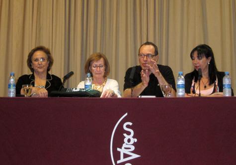Gloria de Frutos,María García Lliberós, Vicente Vercher y Mila Villanueva