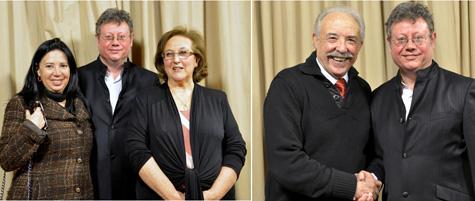 Mila Villanueva, Gloria de Frutos, Francisco Ponce, con el autor Salvador Amigó