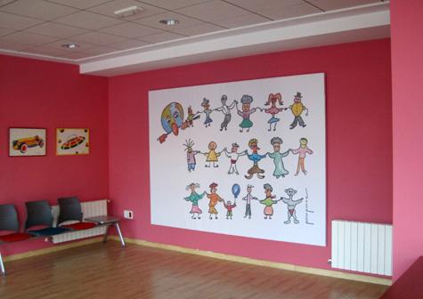 "Mural diseñado para la Escuela Infantil ""La Lluna L'Eliana"""