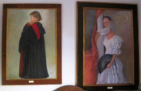 Murales – óleos, de personajes ataviados con traje de época