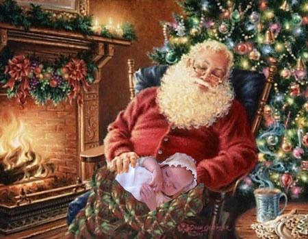 (El niño y Santa)
