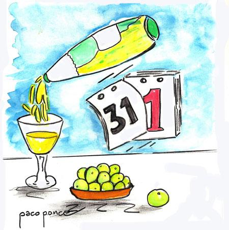 En España, la tradición es despedir el año con uvas