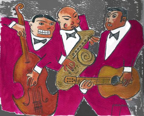 """30 de abril se celebra el """"Día internacional del Jazz"""" (Acuarela)"""