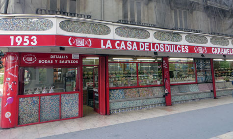 Fachada Casa de los Caramelos en Valencia