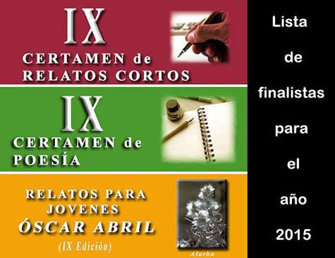 IX Certamen Literario de ALFAMBRA 2015