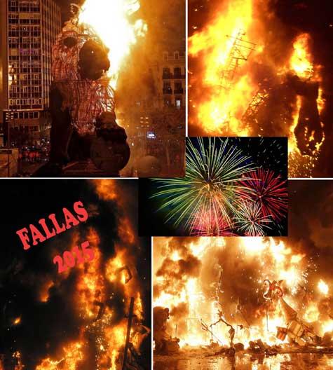 Cremà de las FALLAS 2015