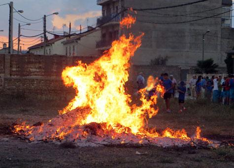 La carrasca en llamas