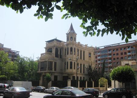Palacete Avenida del Puerto Valencia año 1919