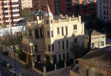 Palacete en Valencia - Visto de arriba