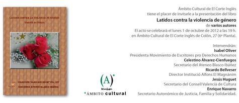 """Presentación del Libro """"Latidos contra la violencia de género"""""""
