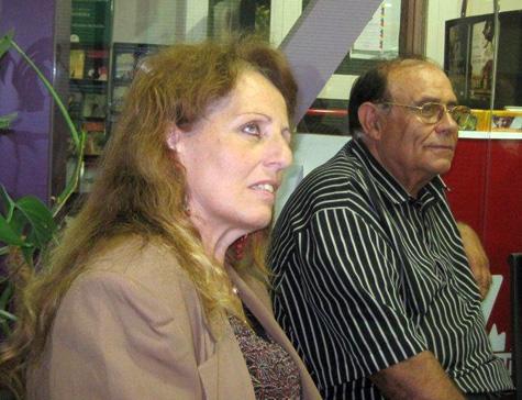Ana Arias Saavedra (Secretaria) y Mariano Peña Albares (Presidente)