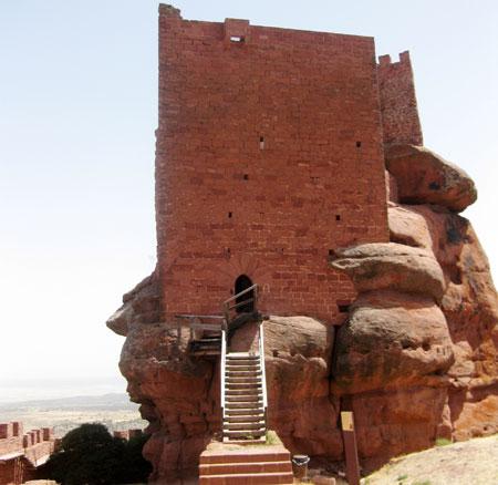 Parte alta de la fortaleza
