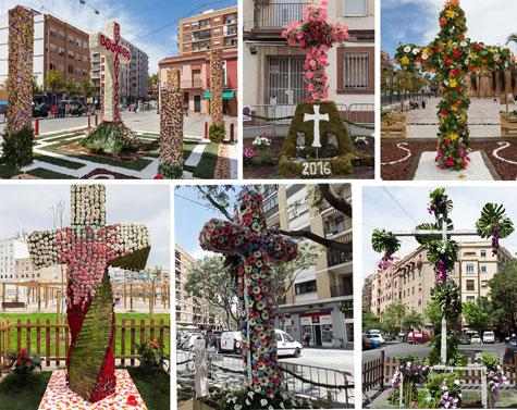 Varias cruces de mayo -Valencia 2016.