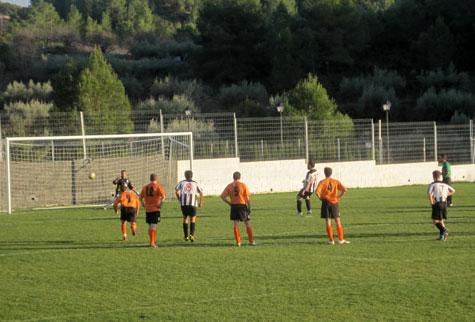 Gol de penalti del Castellnovo C.F.