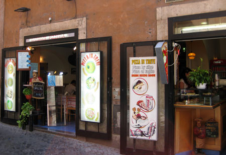 Pizzería Trevi en Roma
