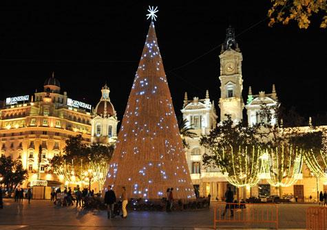 Iluminación Plaza del Ayuntamiento de Valencia