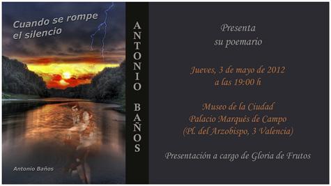 Poemario de Antonio Baños