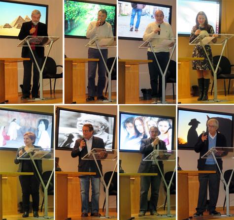 Momentos presentación poemario de Pedro J. de la Peña