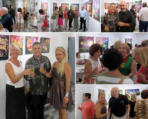 Galería Maika con el pintor G. Haba