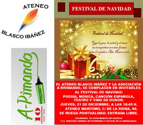 Festival Navidad de Ateneo Blasco Ibáñez y A-rimando