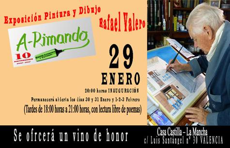 Exposición pinturas y dibujos A-rimando (Rafael Valero)