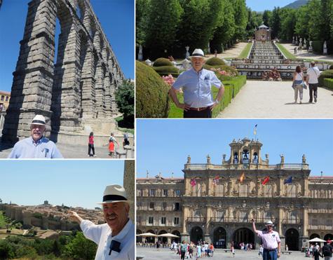 Por este orden: Segovia, La granja, Ávila y Salamanca
