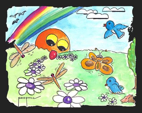 Dibujo-acuarela de Francisco Ponce